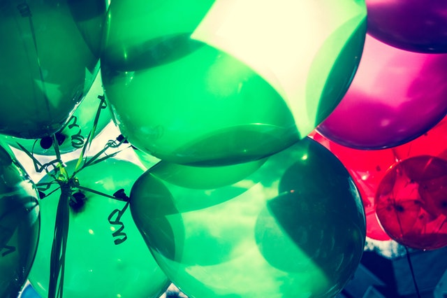 image of green balloons